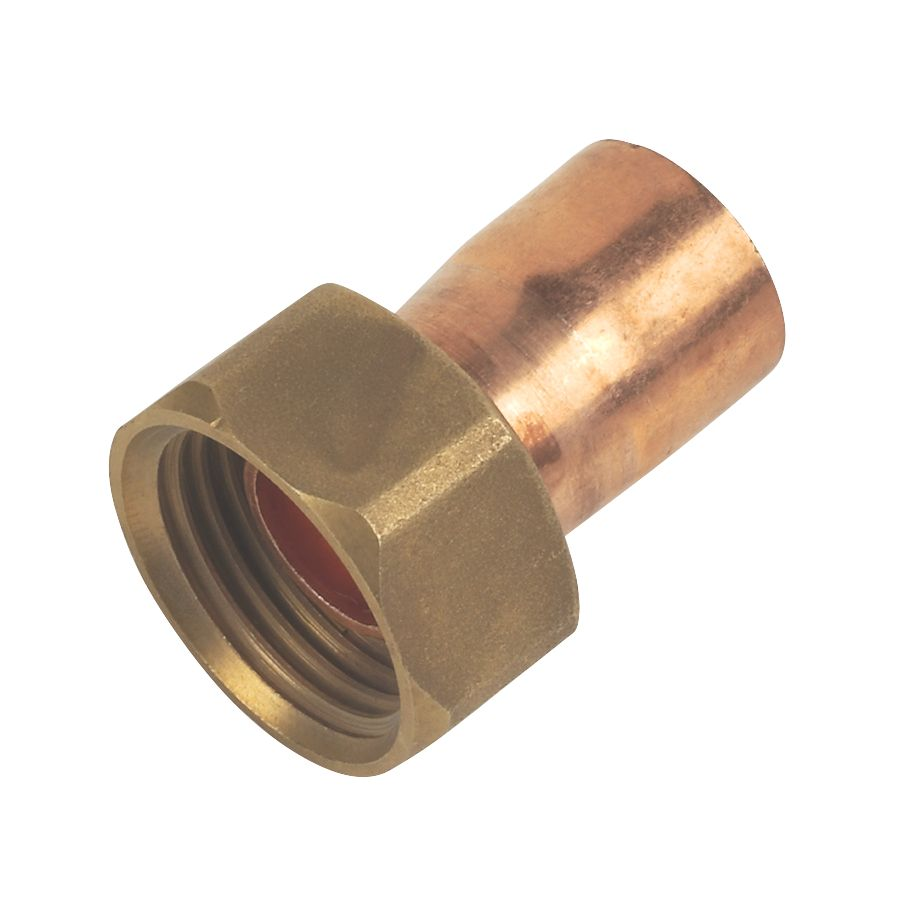 """Image of Flomasta Straight Tap Connectors 15mm x """" 10 Pack"""