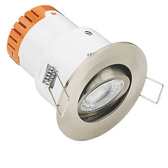 Image of Enlite E5 Adjustable Fire Rated LED Downlight Satin Nickel 420lm 4.5W 220-240V
