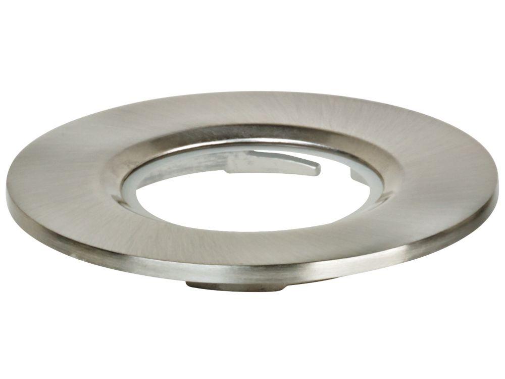 Image of Aurora Aluminium Downlight Bezel Satin Nickel 90mm