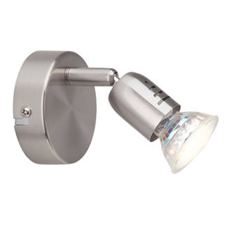 Image of Brilliant Loona GU10 LED Wall Light Satin Chrome 3W 240V