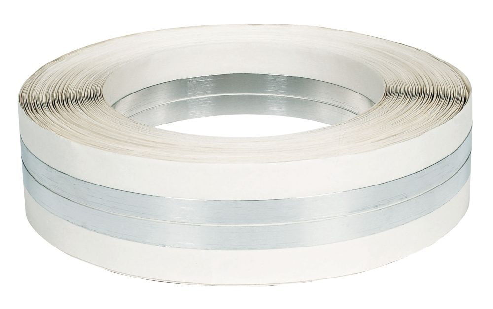 Image of Plasterers Corner Bead Tape Silver / Aluminium 50mm x 30m
