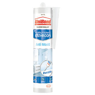 Image of Unibond Anti-Mould Shower & Bathroom Sealant Ice White 274g
