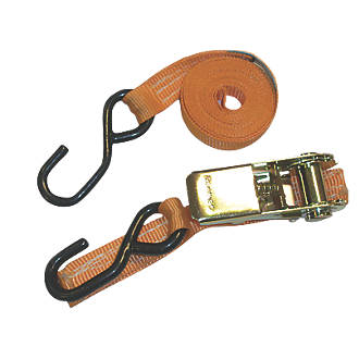 Image of Van Guard Ratchet Tie-Down Straps with Hooks 2.5m x 25mm 2 Pack