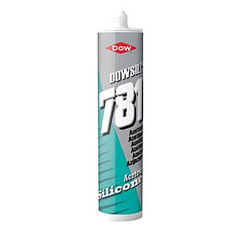 Image of Dow 781 Acetoxy Silicone Sealant White 310ml