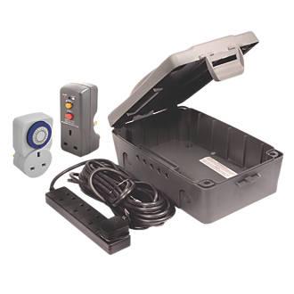 Image of Masterplug IP54 Weatherproof Outdoor Box Kit