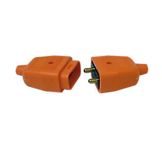 Image of Masterplug Orange Connector 2-Pin