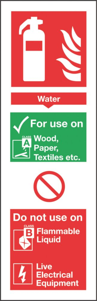 Image of Nite-Glo Water Extinguisher Sign 300 x 100mm