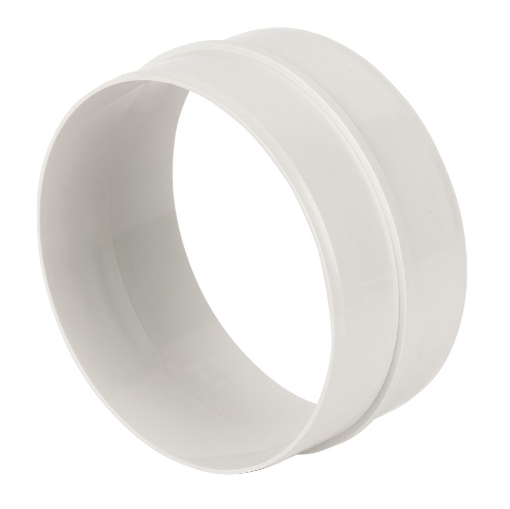 Image of Manrose Round Pipe Connector White 125mm