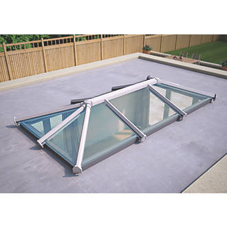 Image of ATT Fabrications Ltd Clear Glass Roof Lantern White 3000 x 1500mm