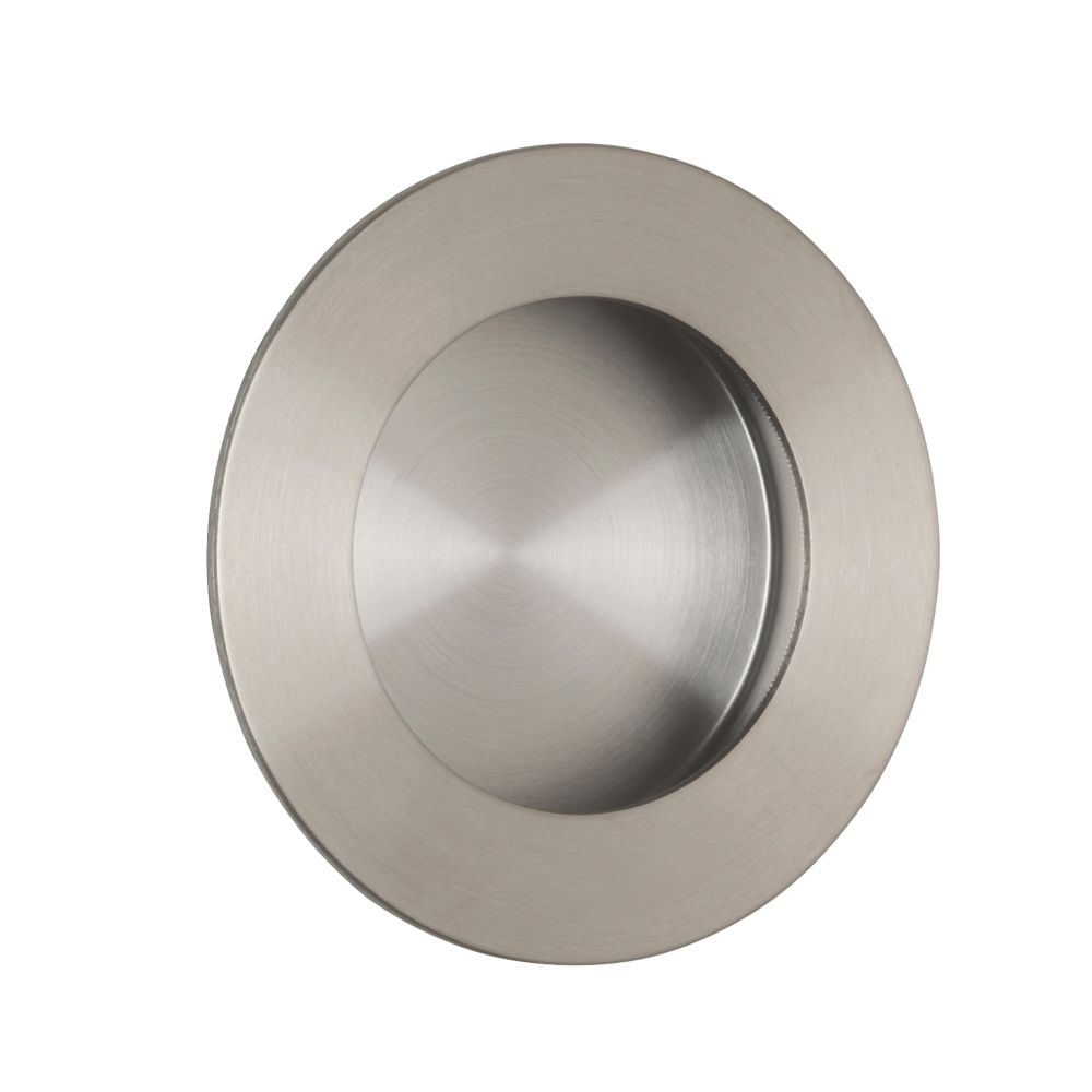 Image of Eurospec Circular Flush Pull Handle 78mm Satin Stainless Steel