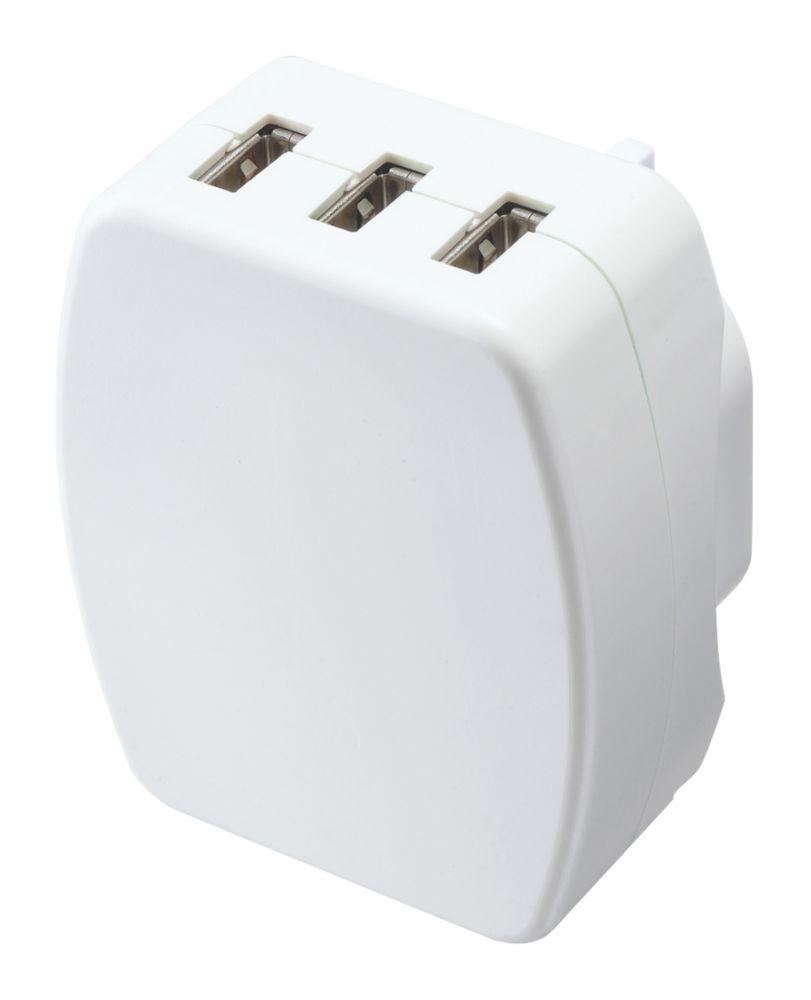 Image of Masterplug 3-Port USB Charging Plug 3.4A