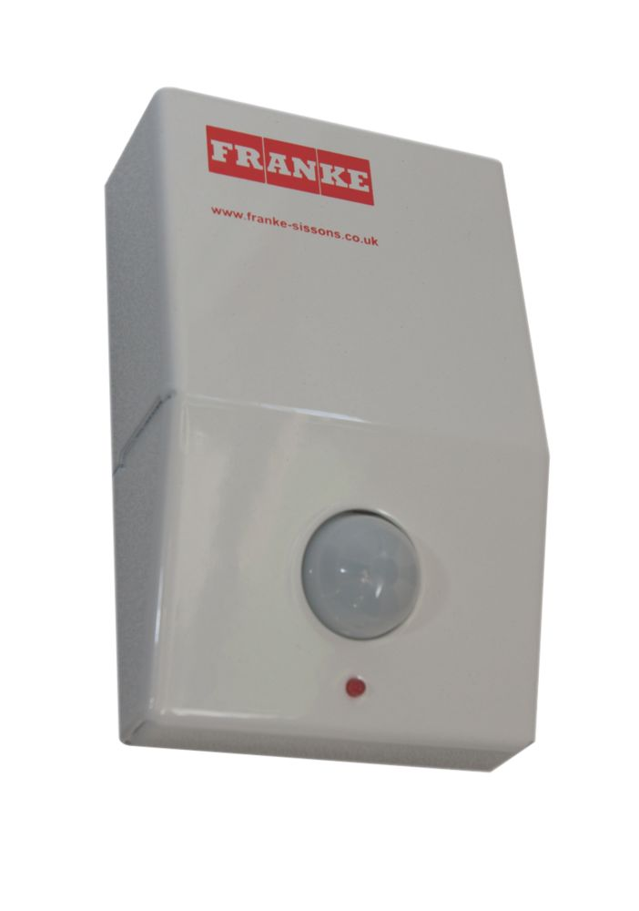 Image of Franke Wall-Mounted Infrared Urinal Flush Control White 80 x 30 x 130mm