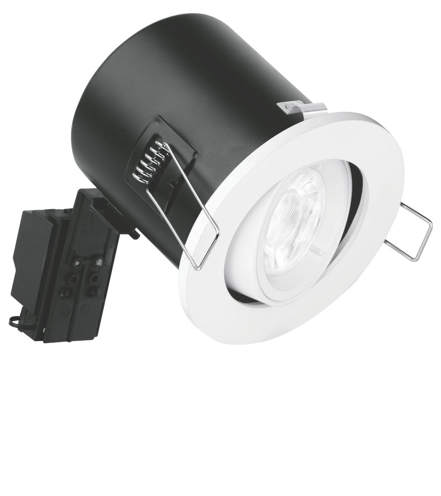 Image of Enlite Adjustable Fire Rated LED Downlight White 500lm 5W 240V