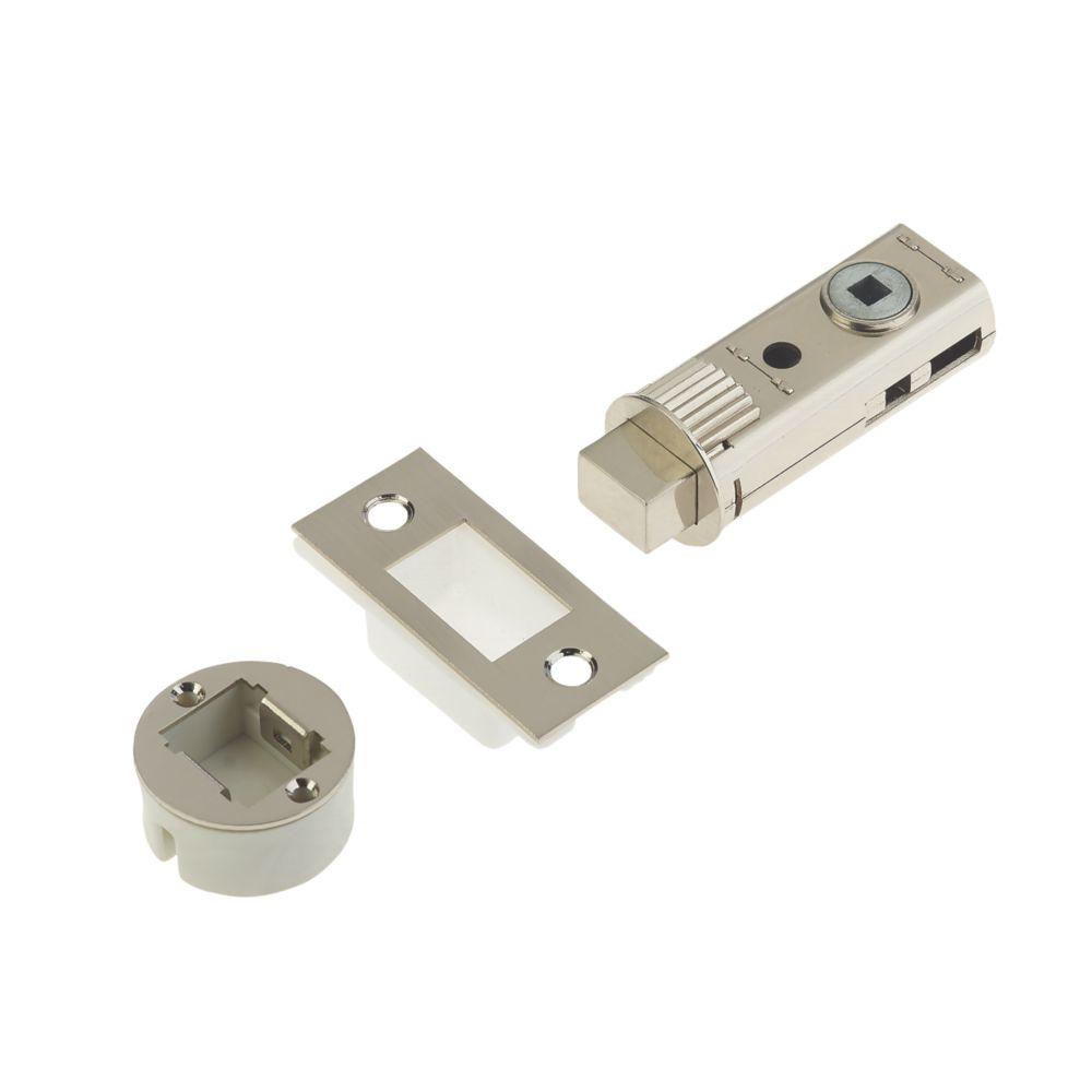 Image of Union Satin Nickel-Plated Tubular Privacy Bolt 60mm Case - 44mm Backset