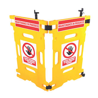Image of Addgards Elevator Gard 2-Panel Barrier Yellow