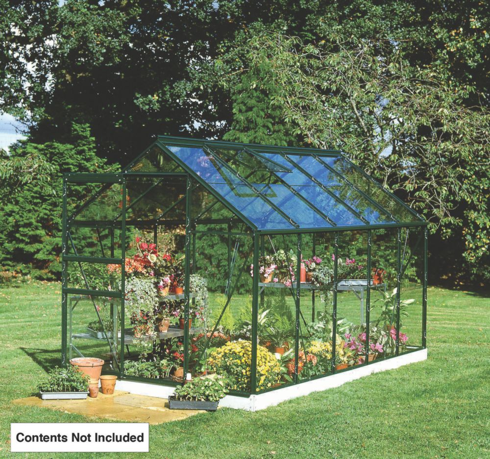 "Image of Halls Popular Framed Greenhouse Green 5' 10"" x 9' 10"""