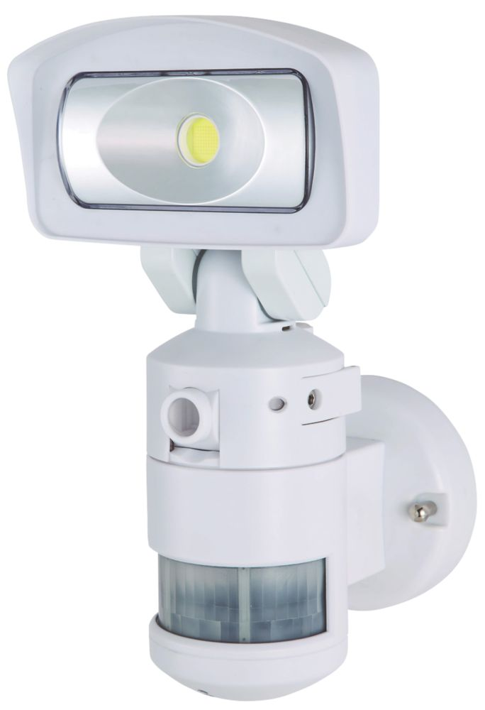Image of Nightwatcher NW720W 11W LED Robotic Light & HD Camera PIR White 2GB