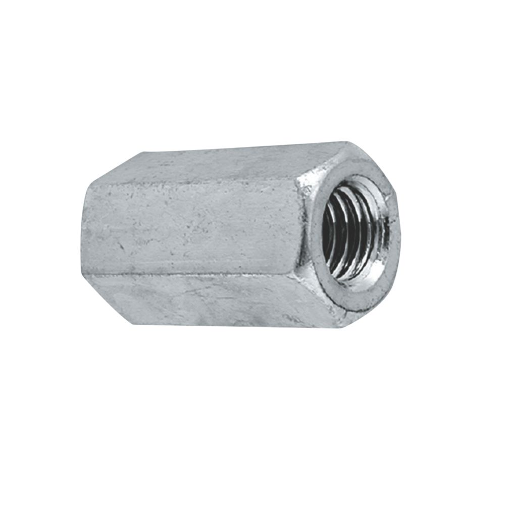 Image of Easyfix A2 Stainless Steel Threaded Rod Connecting Nuts M6 10 Pack