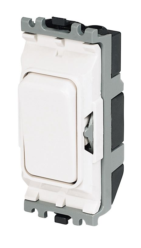 Image of MK 1-Way 20A DP Grid Switch White