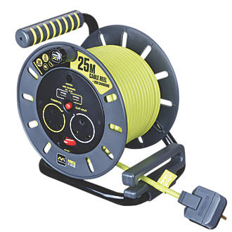 Image of PRO XT 13A 2-Gang 25m Cable Reel + 2.1A 2G USB Charger 240V