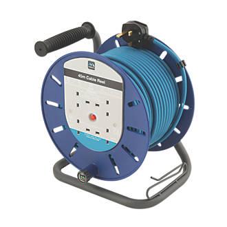 Image of Masterplug HDCT4513BQ/4-XD 13A 4-Gang 45m Cable Reel 240V