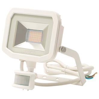 Image of Luceco Guardian LED Floodlight & PIR White 15W Warm White