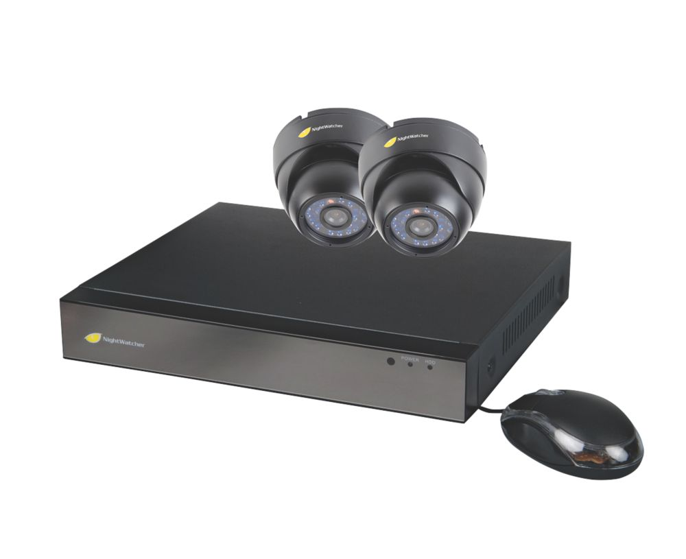 Image of Nightwatcher NW-4AHD-1TB-C720-2D 4-Channel CCTV DVR Kit & 2 Cameras