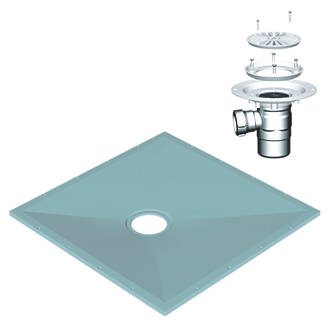 Image of AKW Tuff Form Wet Floor Former with Waste & Adaptor Blue