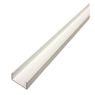 Image of Alfer White PVC U-Profile 12 x 10 x 1000mm