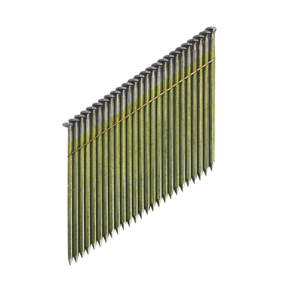 Image of DeWalt Galvanised Collated Framing Stick Nails 3.1 x 90mm 2200 Pack
