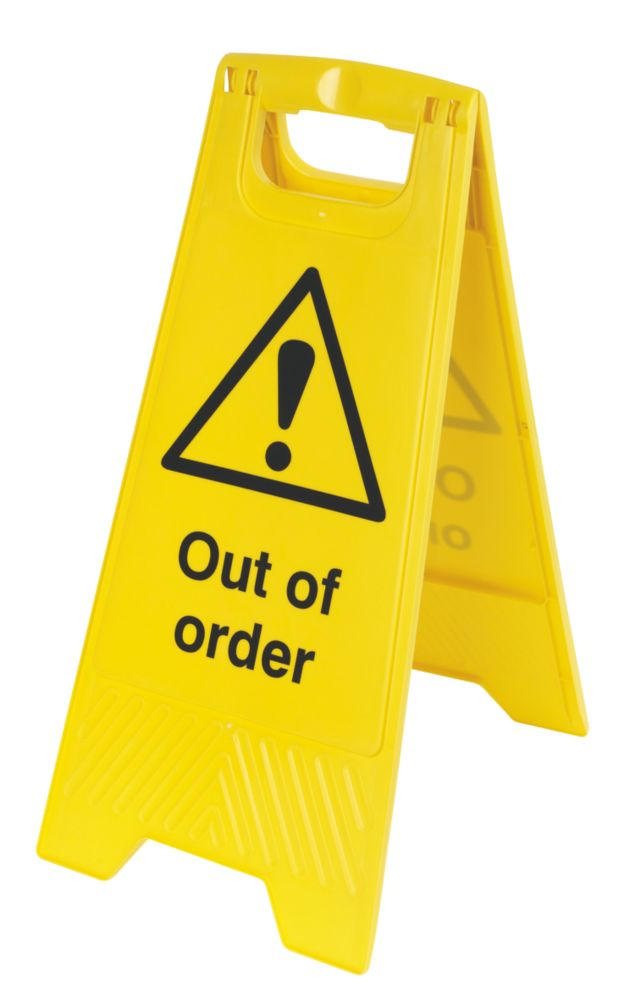 Image of Caution Out Of Order A-Frame Safety Sign 600 x 290mm