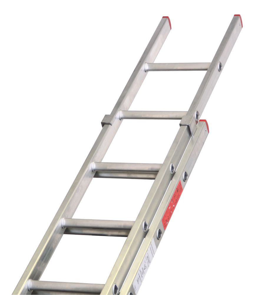 Image of Lyte DIY Double Extension Domestic Ladder 7 Rungs Max. Height 3.59m