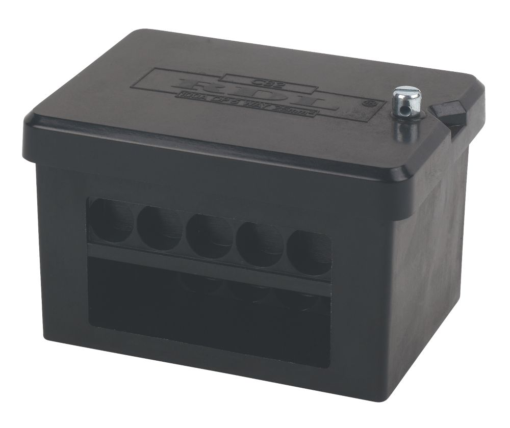 Image of 2 x 5-Way DP 100A Service Connector Block 25mm