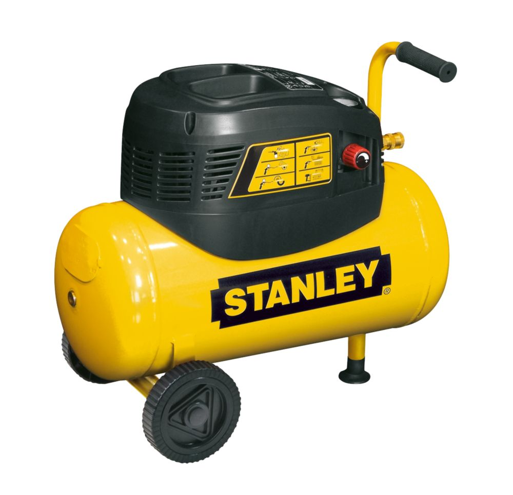 Image of Stanley 8216035SCR011 24Ltr Compressor with 5 Piece Accessory Kit 240V