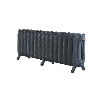 Image of Arroll 3-Column Cast Iron Radiator 470 x 1234mm Black