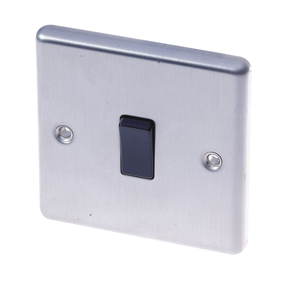 Image of LAP 10AX 1-Gang 2-Way Light Switch Stainless Steel