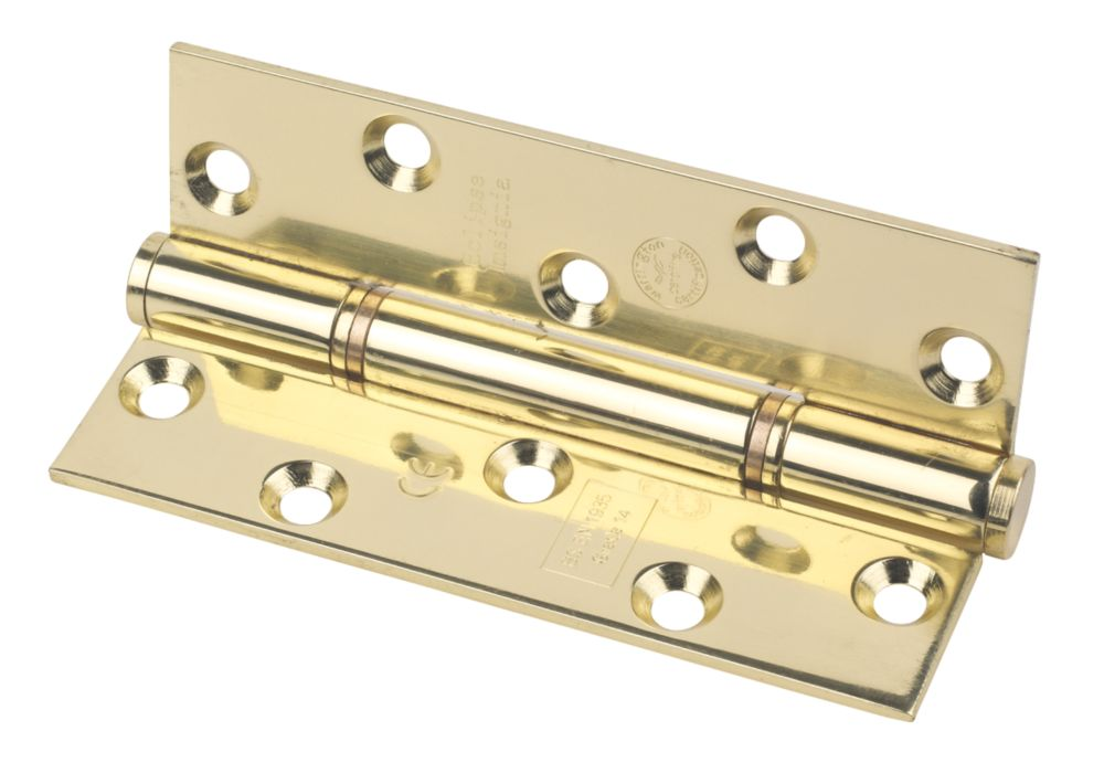 Image of Eclipse Grade 14 Insignia Thrust Bearing Hinge Electro Brass 127 x 76mm 2 Pack