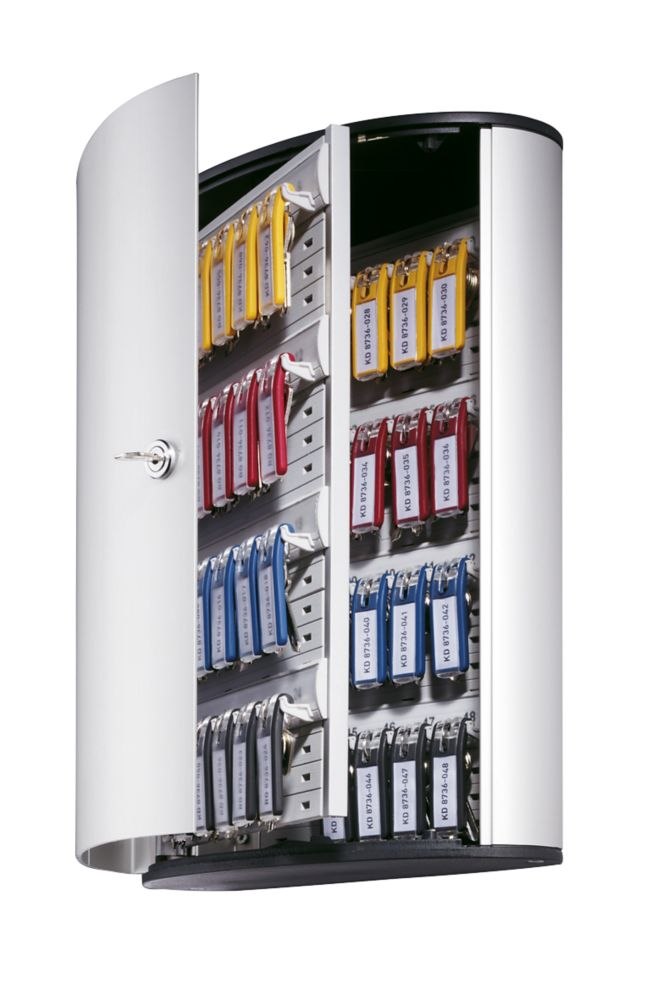 Image of Durable 48-Hook Key Cabinet