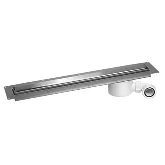 Image of McAlpine CD800-O-B Slimline Channel Drain Brushed Stainless Steel 810 x 88mm