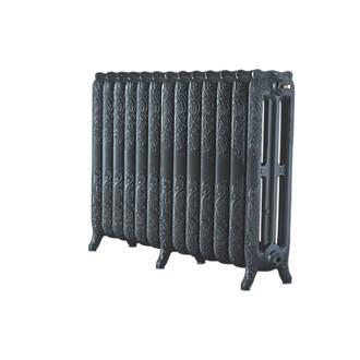 Image of Arroll 3-Column Cast Iron Radiator 760 x 1074mm Pewter