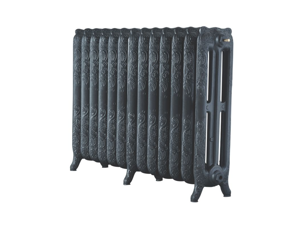 Image of Arroll 3-Column Cast Iron Radiator 760 x 1074mm Pewter
