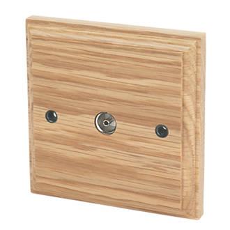 Image of Varilight Coaxial TV Socket Classic Oak