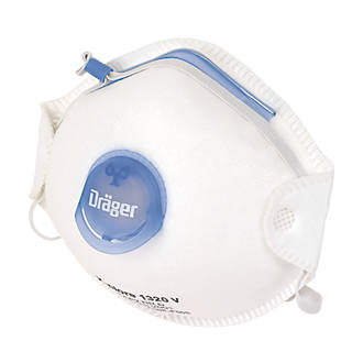 Image of Draeger X-Plore 1320V Cup-Valved Dust Masks P2 10 Pack