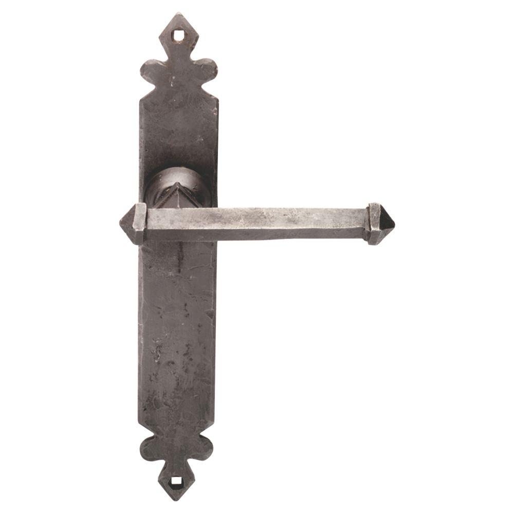 Image of Carlisle Brass Tudor LoB Latch Door Handle Pair Antique Black