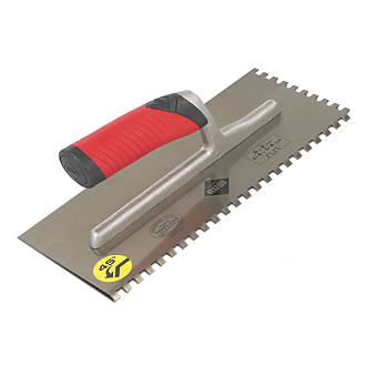"""Image of Rubi 6mm Notched Adhesive Trowel 11"""" x 4"""""""
