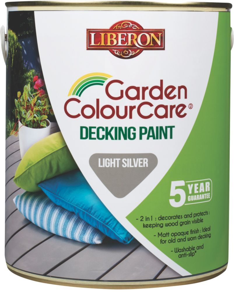 Image of Liberon Decking Paint Light Silver 2.5Ltr