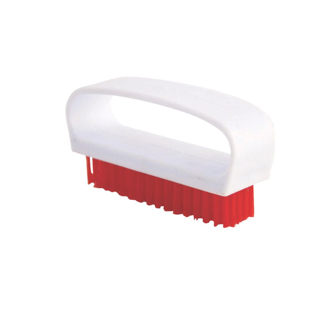Image of Bentley Bridged Nail Brush Stiff Red 6 Pack