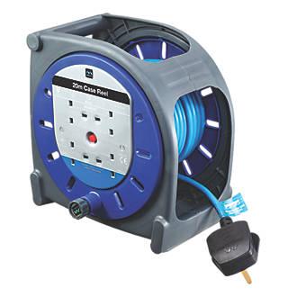 Image of Masterplug HBT2013BQ/4-XD 13A 4-Gang 20m Cable Reel 240V