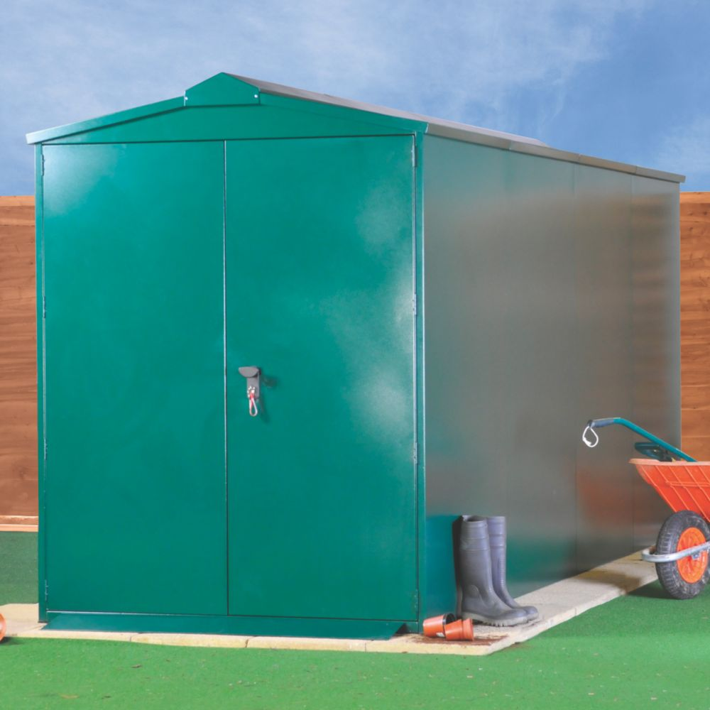 Image of Asgard Centurion Plus 2 All-Metal Bike Store with Assembly Green 1.6 x 4.4m