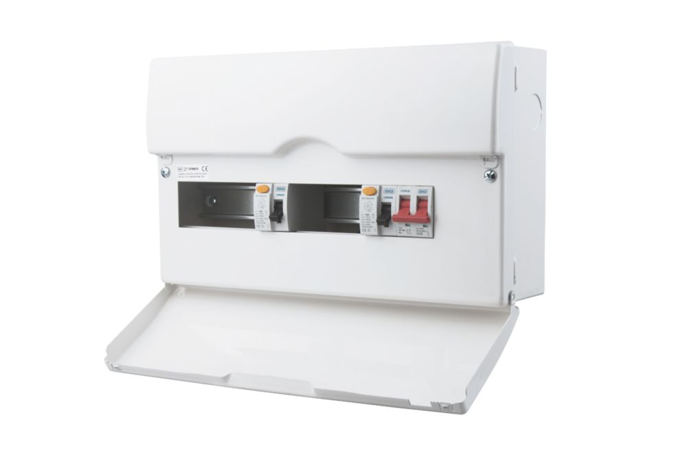 Image of British General 100A 10-Way Metal High Integrity Dual RCD Consumer Unit